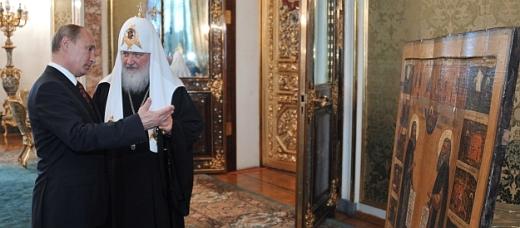 Встреча В.Путина с главами делегаций православных церквей